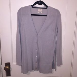 Zara 100% Cashmere Light Blue Cardigan